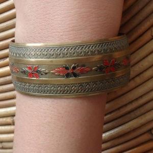 1930s Vintage Boho Brass Cuff Bracelet